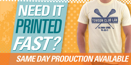 same day custom t-shirt printing available