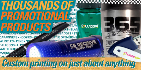 thousands of promotional products available for customization