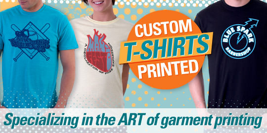 custom printed t-shirts professionals