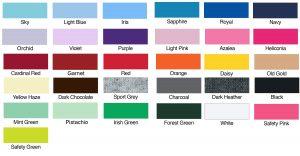 Gildan G-2000L Color Chart