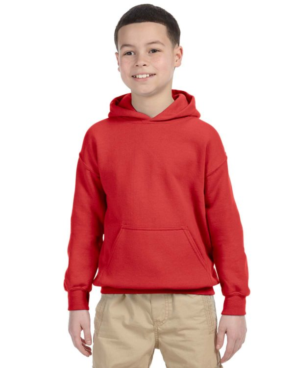 G-18500B Gildan Youth Pullover Hoodie Front