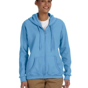 G-18600FL Gildan Ladies Zip Up Hoodie Front