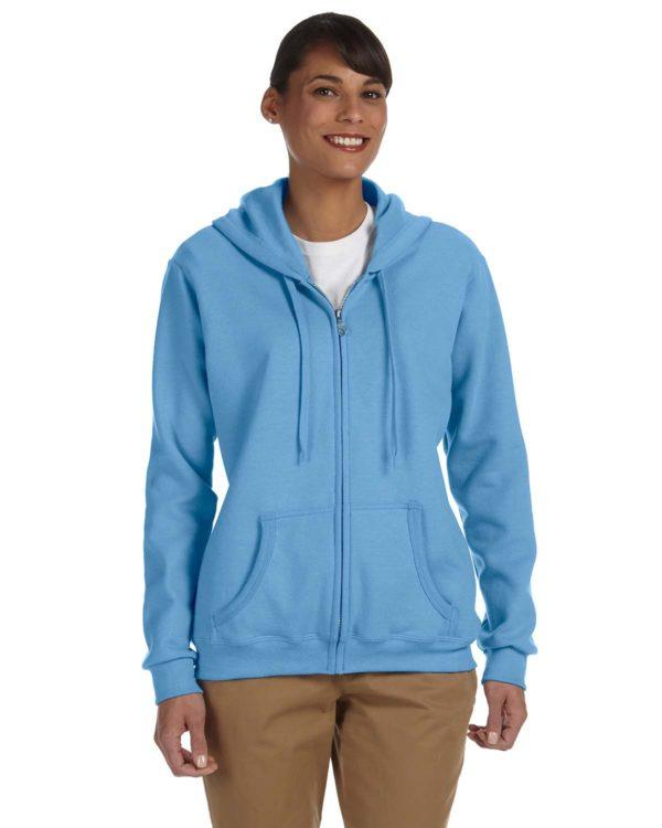 G-18600FL Gildan Ladies Zip Up Hoodie Front