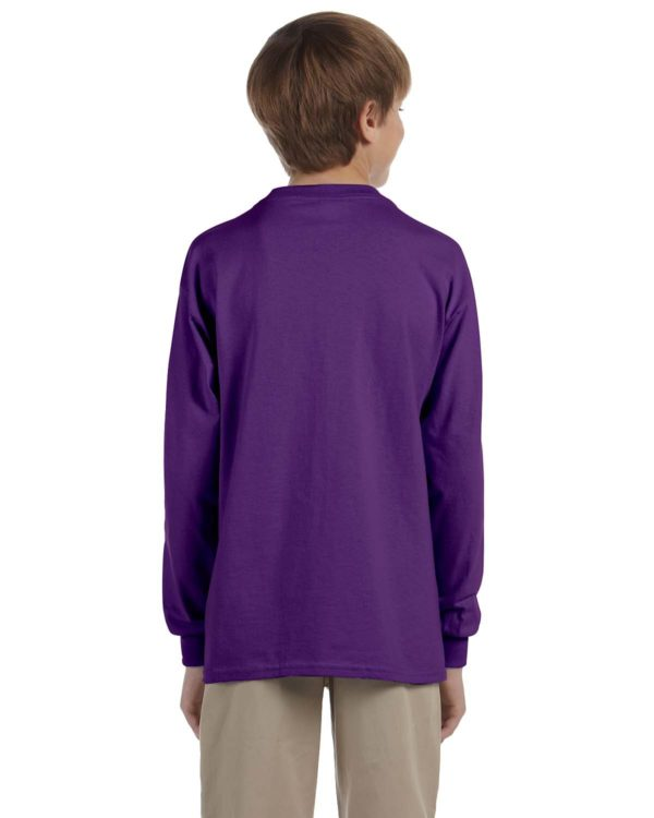 G-2400B Gildan Youth Long Sleeve Shirt Back
