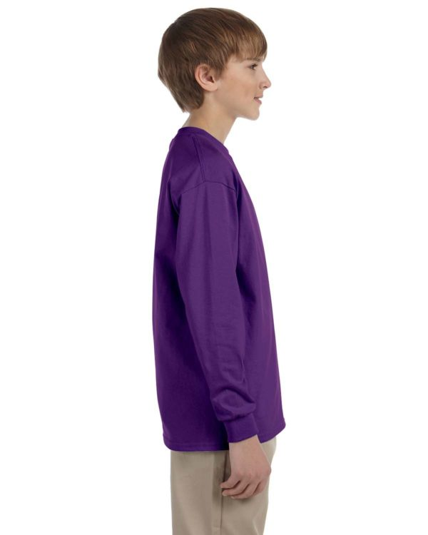G-2400B Gildan Youth Long Sleeve Shirt Side