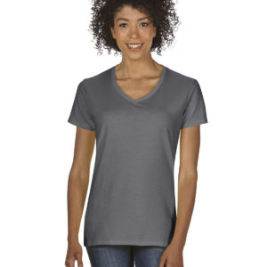 G-5V00L Gildan Ladies V-Neck T-Shirt Front