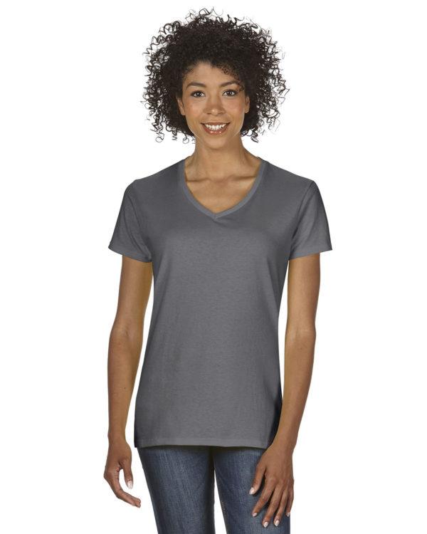 G-5V00L Gildan Ladies V-Neck T-Shirt Front