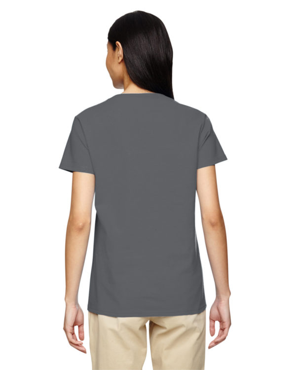 G-5V00L Gildan Ladies V-Neck T-Shirt Back