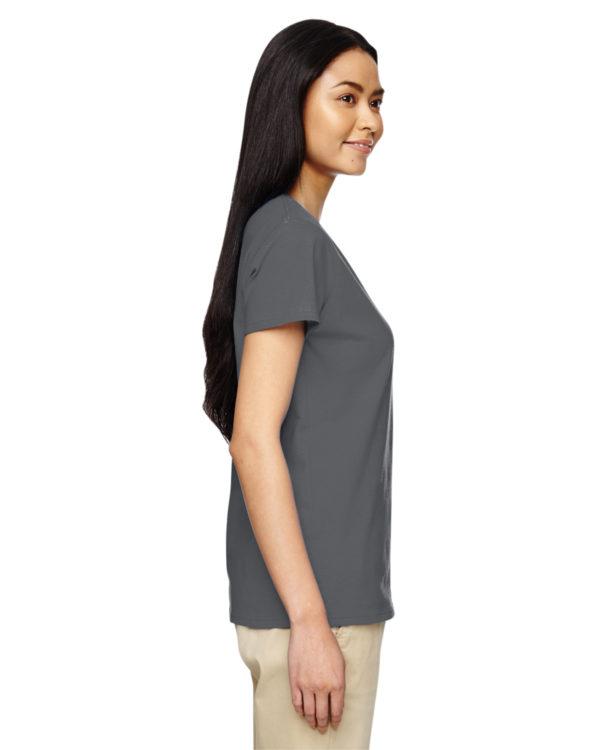 G-5V00L Gildan Ladies V-Neck T-Shirt Side