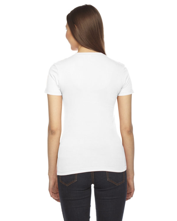 American Apparel 2102W Ladies Jersey T-Shirt Back
