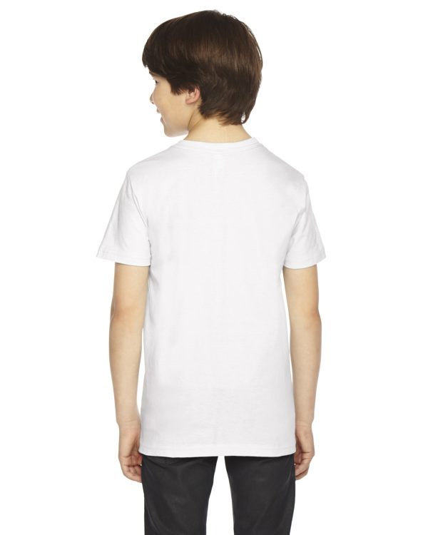 American Apparel 2201W Youth Jersey T-Shirt Back