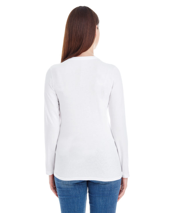 American Apparel 23337W Ladies Long Sleeve T-Shirt Back