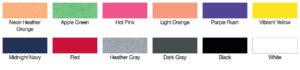 Next Level 3300L Color Swatch