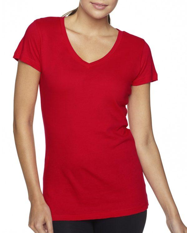 Next Level 3400L Ladies V-Neck T-Shirt Front