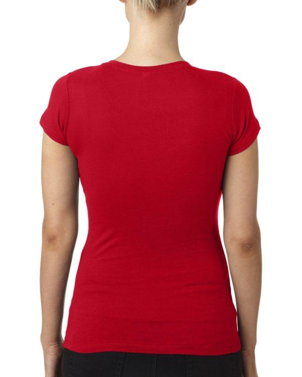 Next Level 3400L Ladies V-Neck T-Shirt Back