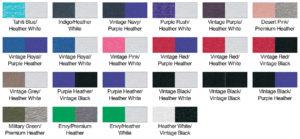 Next Level 6051 Color Swatch