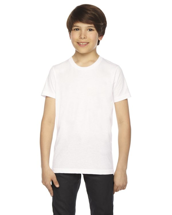 American Apparel BB201W Youth Poly-Cotton Crewneck T-Shirt Front