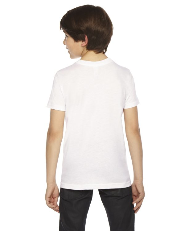 American Apparel BB201W Youth Poly-Cotton Crewneck T-Shirt Back