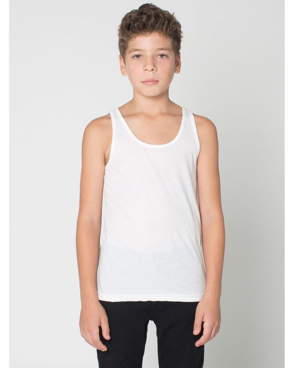 American Apparel BB208W Youth Poly-Cotton Tank Top Front