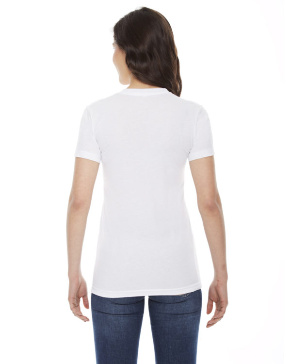 American Apparel BB301W Ladies Short Sleeve Crewneck T-Shirt Back