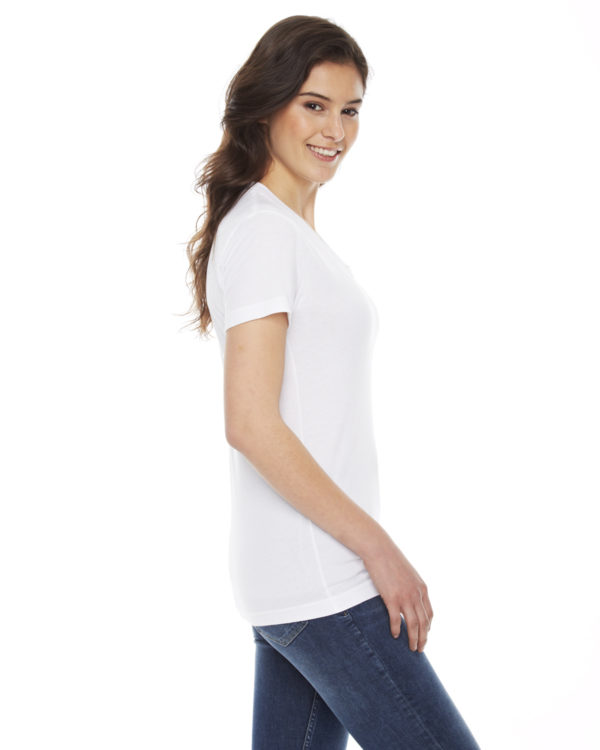 American Apparel BB301W Ladies Short Sleeve Crewneck T-Shirt Side