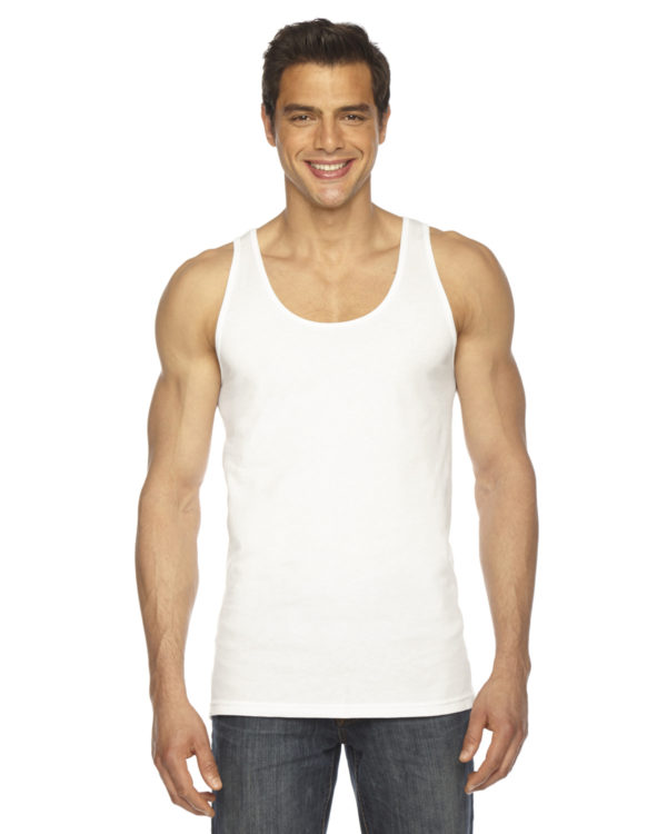 American Apparel BB408W Unisex Poly-Cotton Tank Top Front