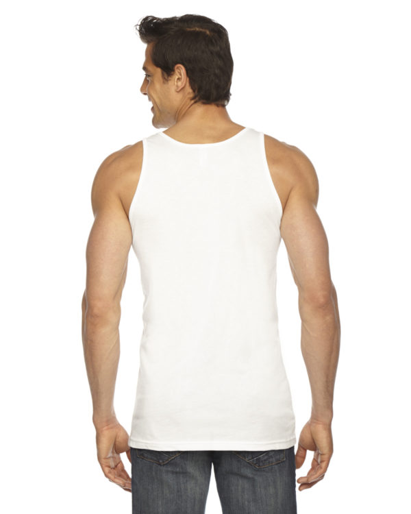 American Apparel BB408W Unisex Poly-Cotton Tank Top Back