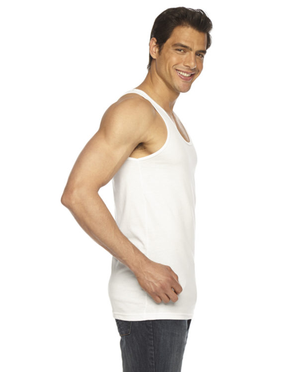 American Apparel BB408W Unisex Poly-Cotton Tank Top Side