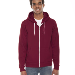 American Apparel F497 Unisex Flex Fleece Zip Up Hoodie Front