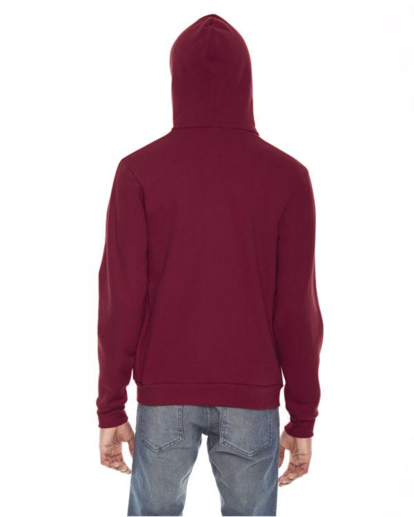 American Apparel F497 Unisex Flex Fleece Zip Up Hoodie Back
