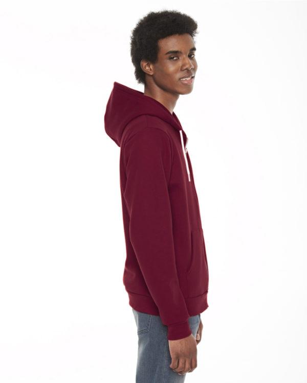 American Apparel F497 Unisex Flex Fleece Zip Up Hoodie Side