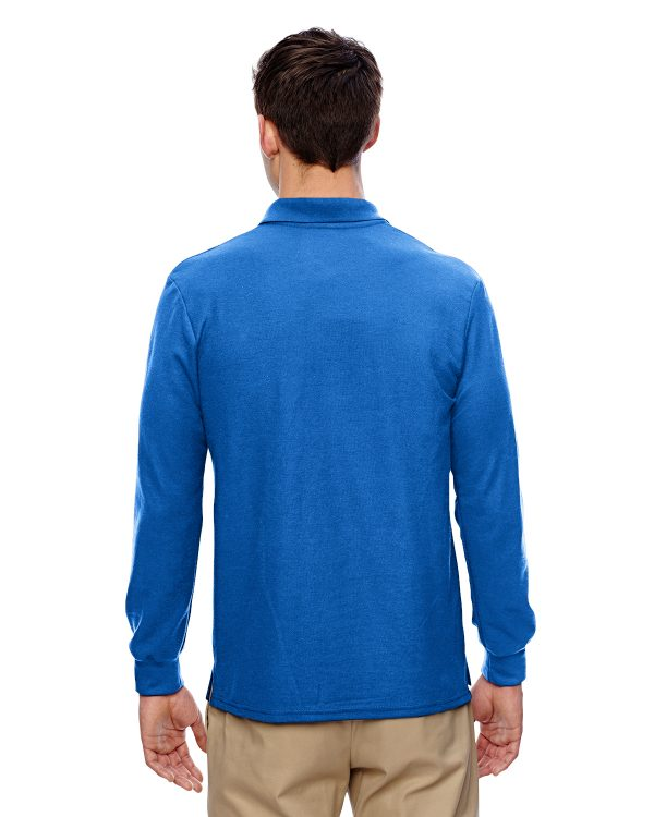 Gildan G72900 Adult Double Pique Long Sleeve Polo Back