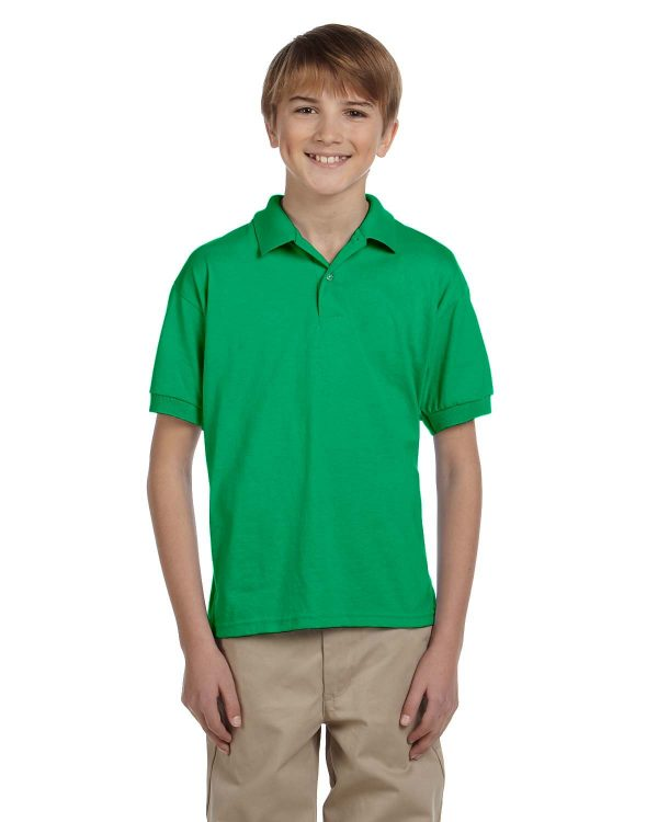 Gildan G8800B Youth 50/50 Jersey Polo Front