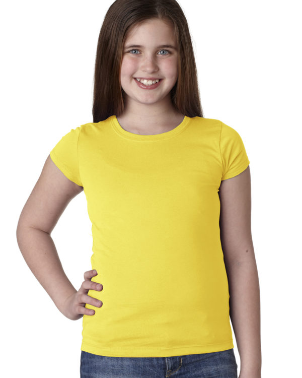 Next Level N3710 Youth Girls Princess T-Shirt Front