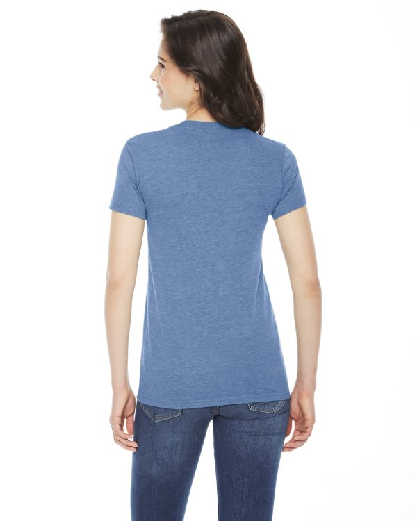 American Apparel TR301W Ladies Triblend Track T-Shirt Back
