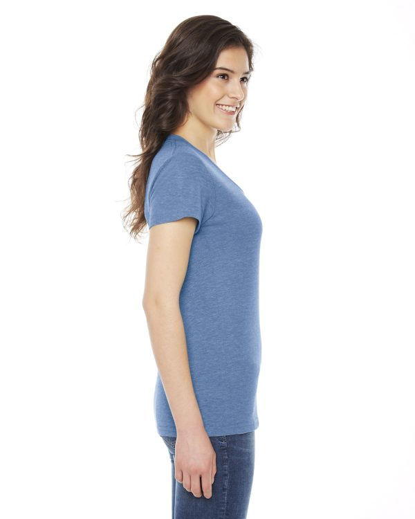American Apparel TR301W Ladies Triblend Track T-Shirt Side