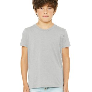 Bella Canvas 3001Y Youth Jersey Short-Sleeve T-Shirt Front