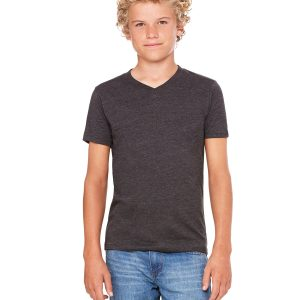 Bella Canvas 3005Y Youth Jersey Short-Sleeve V-Neck T-Shirt Front