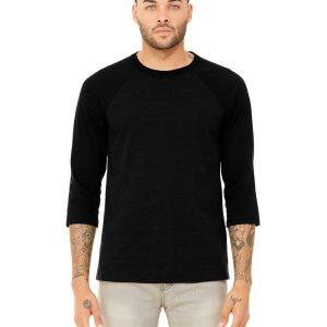 Bella Canvas 3200 Unisex 3/4-Sleeve Baseball T-Shirt Front