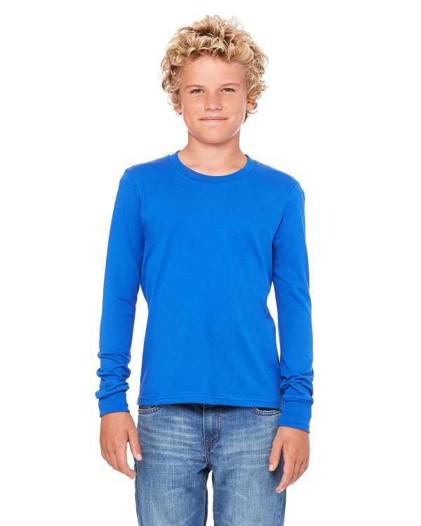 Bella Canvas 3501Y Youth Jersey Long-Sleeve T-Shirt Front