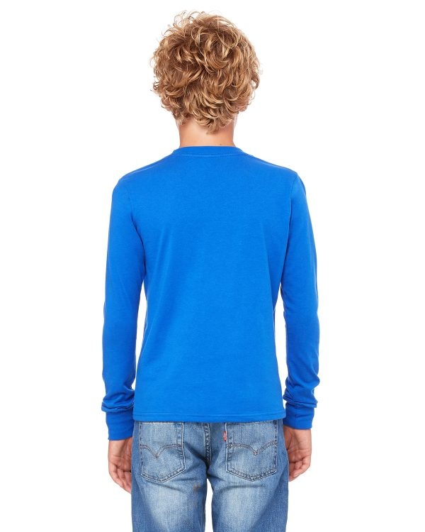 Bella Canvas 3501Y Youth Jersey Long-Sleeve T-Shirt Back