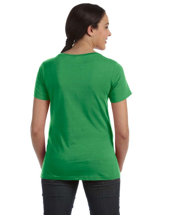 Anvil 391A Ladies Featherweight scoop T-Shirt Back