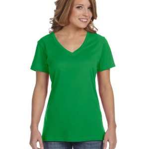 Avil 392A Ladies Featherweight V-Neck T-Shirt Front