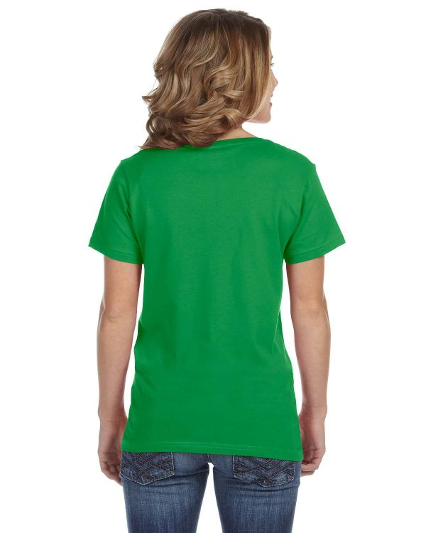 Avil 392A Ladies Featherweight V-Neck T-Shirt Back