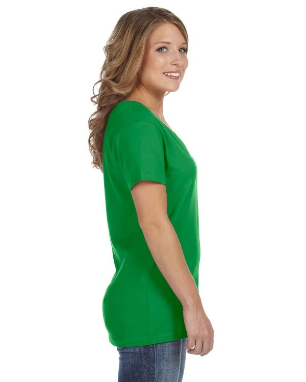 Avil 392A Ladies Featherweight V-Neck T-Shirt Side