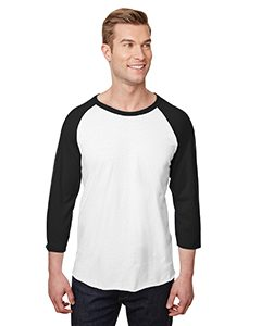 Jerzees 560RR Adult Premium Blend Ring-Spun Raglan Baseball T-Shirt Front