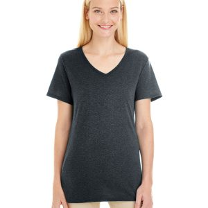 Jerzees 601WVR Ladies Triblend V-Neck T-Shirt Front