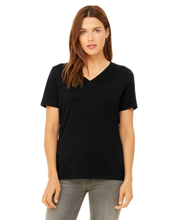 Bella Canvas 6405 Ladies Jersey Short-Sleeve V-Neck T-Shirt Front