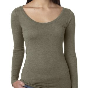 Next Level 6731 Ladies Triblend Longsleeve Scoop Front