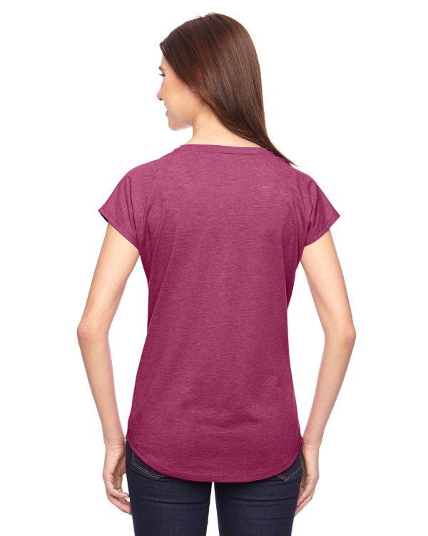 Anvil 6750VL Ladies Triblen V-Neck T-Shirt Back